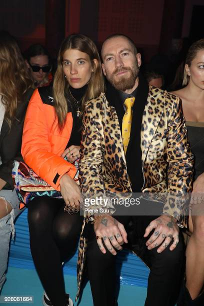 Veronika Heilbrunner and Justin O Shea attends the OffWhite show as part of the Paris Fashion Week Womenswear Fall/Winter 2018/2019 on March 1 2018...