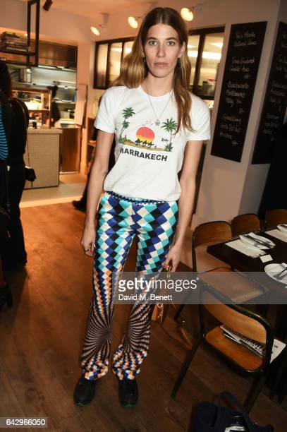 Veronika Heilbrunner arrives as Topshop and Leandra Medine host dinner to celebrate London Fashion Week on February 19 2017 in London England