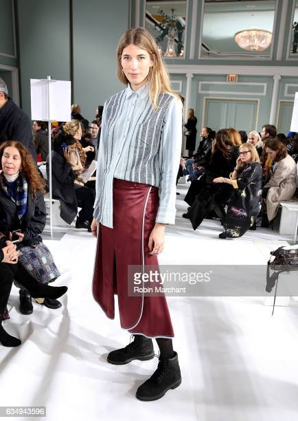 Veronika Heilbrunner attends Sies Marjan during New York Fashion Week on February 12 2017 in New York City