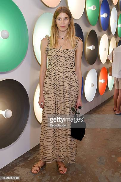 Veronika Heilbrunner attends the Boss Womenswear fashion show during New York Fashion Week September 2016 at The Gallery Skylight at Clarkson Sq on...