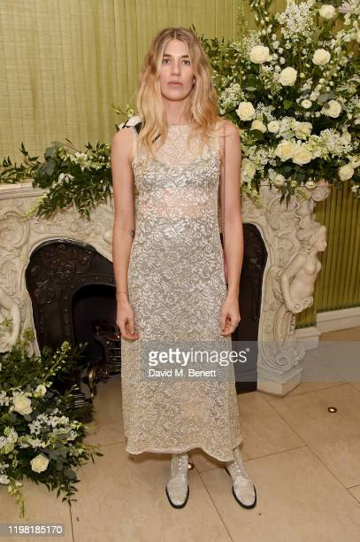 Veronika Heilbrunner attends the British Vogue and Tiffany & Co. Fashion and Film Party at Annabel's on February 2, 2020 in London, England.