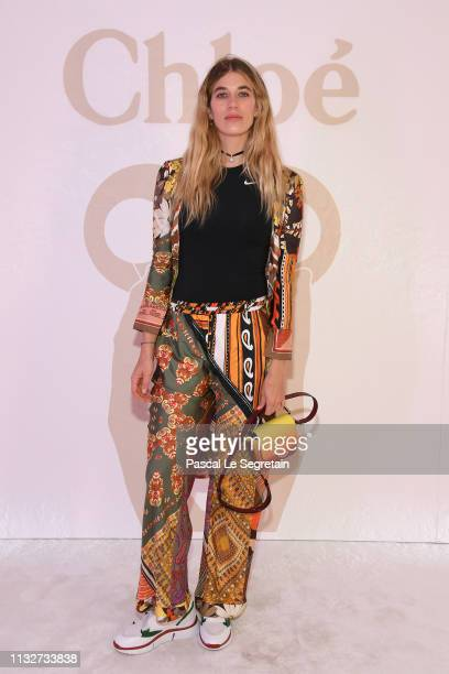 Veronika Heilbrunner attends the Chloe show as part of the Paris Fashion Week Womenswear Fall/Winter 2019/2020 on February 28 2019 in Paris France