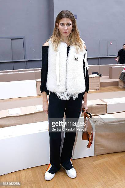 Veronika Heilbrunner attends the Chloe show as part of the Paris Fashion Week Womenswear Fall/Winter 2016/2017 Held at Grand Palais on March 3 2016...