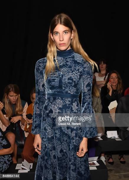 Veronika Heilbrunner attends the Erdem catwalk show during London Fashion Week at The Old Selfridges Hotel on September 18 2017 in London England
