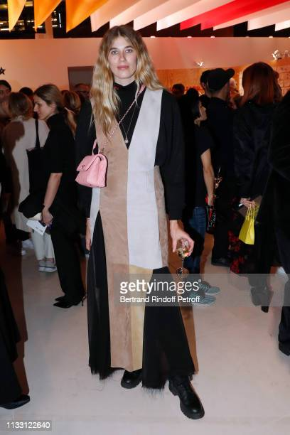 Veronika Heilbrunner attends the LVMH Prize 2019 Edition at Louis Vuitton Avenue Montaigne Store on March 01 2019 in Paris France