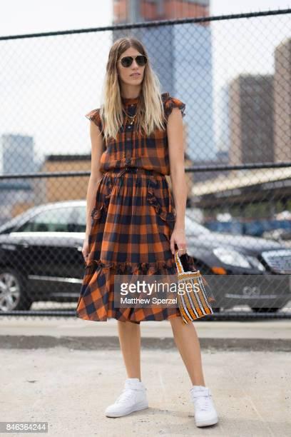 Veronika Heilbrunner is seen attending Coach during New York Fashion Week wearing Coach on September 12 2017 in New York City