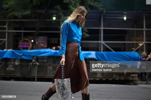 Veronika Heilbrunner is seen attending Sies Marjan during New York Fashion Week wearing Sies Marjan on September 10 2017 in New York City