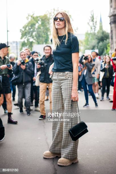 Veronika Heilbrunner is seen before the Dries van Noten fashion show during Paris Fashion week Womenswear SS18 on September 27 2017 in Paris France