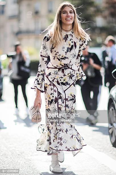 Veronika Heilbrunner is seen outside the Dries Van Noten show during Paris Fashion Week Spring Summer 2017 on September 28 2016 in Paris France