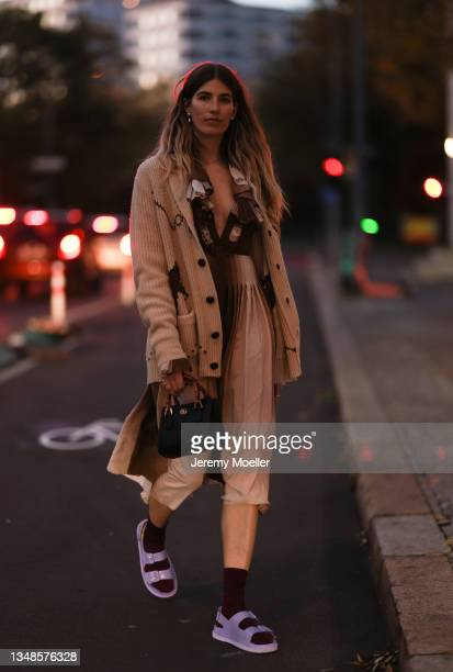 Veronika Heilbrunner is wearing a full Gucci look on October 23, 2021 in Berlin, Germany.