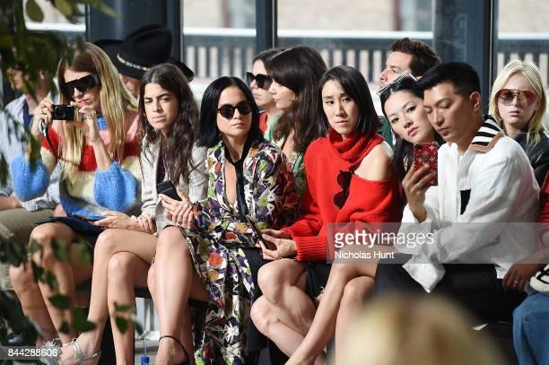 Veronika Heilbrunner Leandra Medine Leigh Lezark Eva Chen and Brian Boy attend the Jason Wu fashion show during New York Fashion Week on September 8...