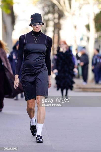 Veronika Heilbrunner outside Haider Ackermann during Paris Fashion Week Womenswear Spring/Summer 2019 on September 29 2018 in Paris France