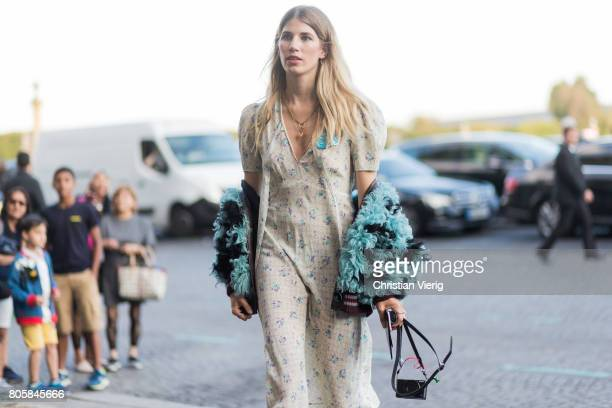 Veronika Heilbrunner outside Miu Miu Cruise Collection during Paris Fashion Week Haute Couture Fall/Winter 20172018 Day One on July 2 2017 in Paris...