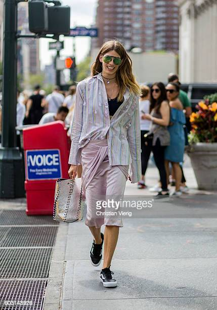 Veronika Heilbrunner outside Tome on September 11 2016 in New York City