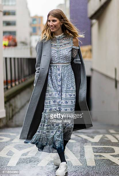 Veronika Heilbrunner seen outside Erdem during London Fashion Week Autumn/Winter 2016/17 on February 22 2016 in London England United Kingdom