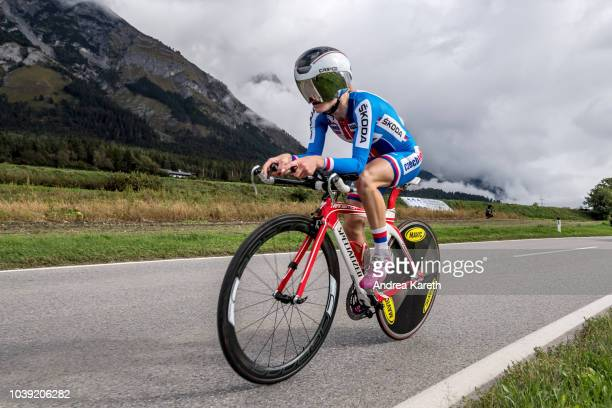 Veronika Jandova of Czech Republic during the junior Women's Individual Time Trial of UCI 2018 Road World Championships on September 24, 2018 in...