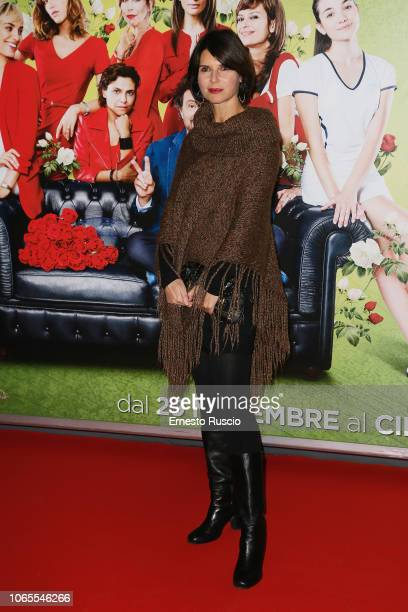 Veronika Logan walks the red carpet ahead of the Se Son Rose premiere at Cinema Adriano on November 26 2018 in Rome Italy