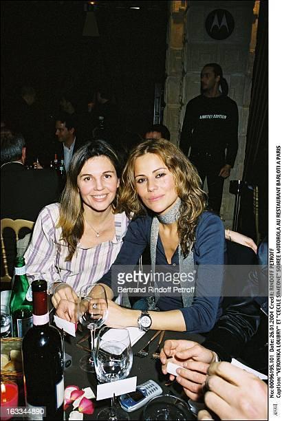 Veronika Loubry and 'Cecile Simeone' Motorola party at the Resaurant 'Barloti' in Paris