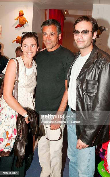 Veronika Loubry with her boyfriend and Anthony Delon