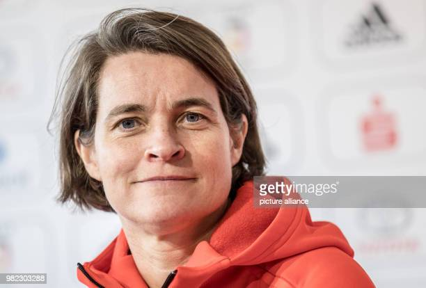 Veronika Ruecker Chairwoman of the Board of the German Olympic Sports Federation smiling during the inaugural press conference of the German squad in...