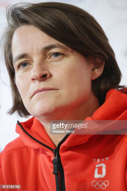 Veronika Ruecker of the DOSB attends the opening press conference 'Olympia Team Deutschland' at the German House during previews ahead of the...