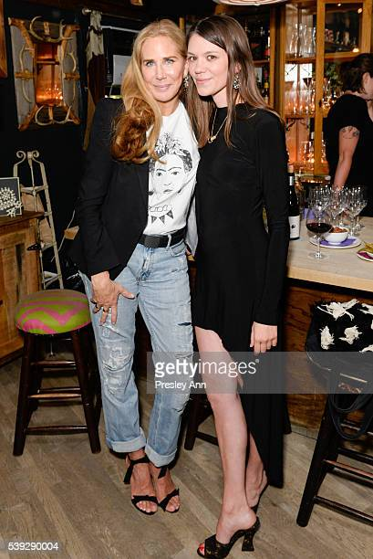 Veronika Ullmer and Julia Gall attend Jo Malone London and Interview Dinner for Judy Blame at The Spotted Pig on June 9, 2016 in New York City.