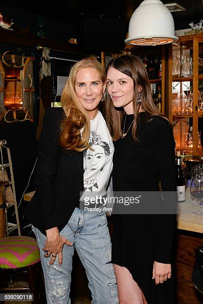 Veronika Ullmer and Julia Gall attend Jo Malone London and Interview Dinner for Judy Blame at The Spotted Pig on June 9 2016 in New York City
