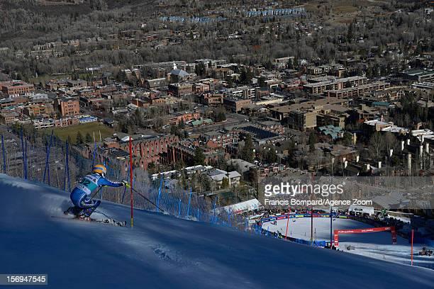 Veronika Velez Zuzulova of Slovakia competes during the Audi FIS Alpine Ski World Cup Women's Slalom on November 25 2012 in Aspen Colorado