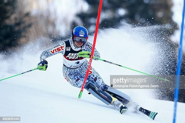 Veronika Velez Zuzulova of Slovakia competes during the Audi FIS Alpine Ski World Cup Women's Slalom on January 03 2017 in Zagreb Croatia