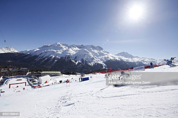 Veronika Velez Zuzulova of Slovakia competes during the FIS Alpine Ski World Championships Nation Team Event on February 14 2017 in St Moritz...