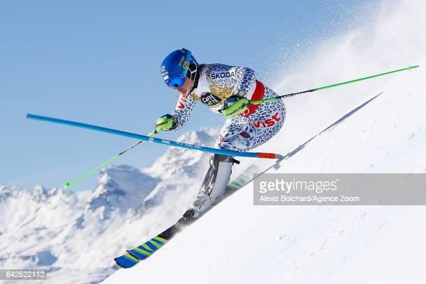 Veronika Velez Zuzulova of Slovakia competes during the FIS Alpine Ski World Championships Women's Slalom on February 18 2017 in St Moritz Switzerland