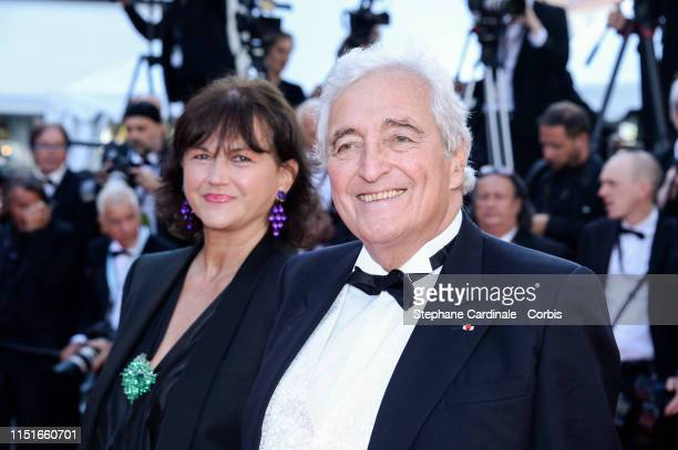 Veronique Bachet and Jean-Loup Dabadie attends the Closing Ceremony Red Carpet during the 72nd annual Cannes Film Festival on May 25, 2019 in Cannes,...