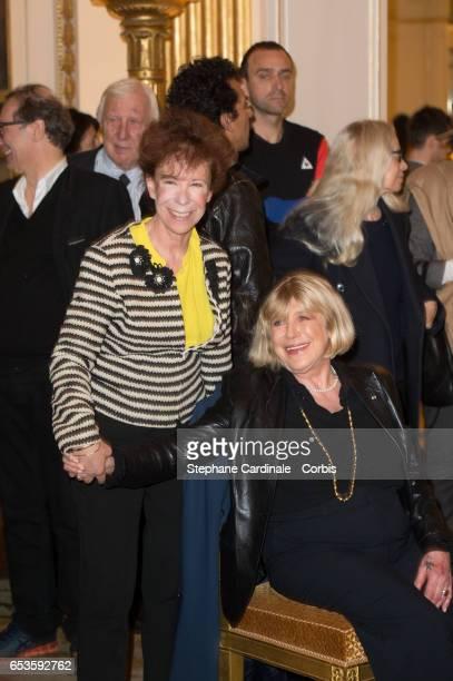 "Veronique Colucci and Marianne Faithfull attend the Marie-Agnes Gillot decoration's ceremony of ""Chevalier de l'ordre national de la Legion..."