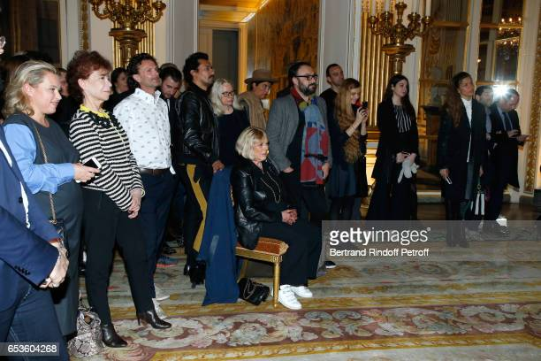 Veronique Colucci Haider Ackermann Marianne Faithfull Dominique Issermann and Simony Monteiro attend MarieAgnes Gillot is decorated Chevalier de...