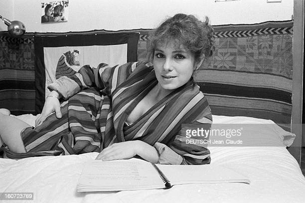 Veronique Genest Actress France février 1981 Closeup avec Véronique GENEST 22 ans actrice qui succède à Catherine Hessling et Martine Carole dans le...