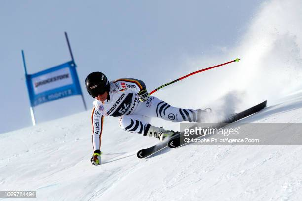 Veronique Hronek of Germany in action during the Audi FIS Alpine Ski World Cup Women's Super G on December 8 2018 in St Moritz Switzerland