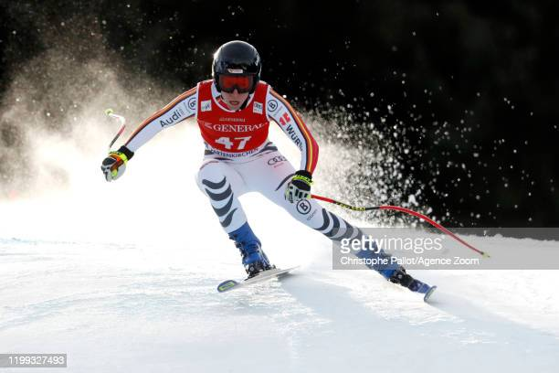 Veronique Hronek of Germany in action during the Audi FIS Alpine Ski World Cup Women's Downhill on February 8, 2020 in Garmisch Partenkirchen,...