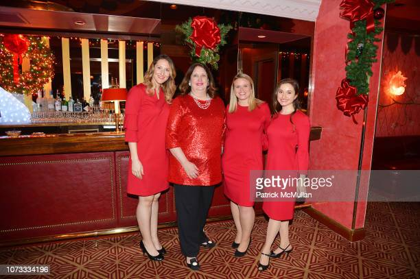 Veronique Hurley Alison Mazzola Nicole Montemurro and Kristen Saran attend George Farias Anne Jay McInerney Host A Holiday Party at The Doubles Club...