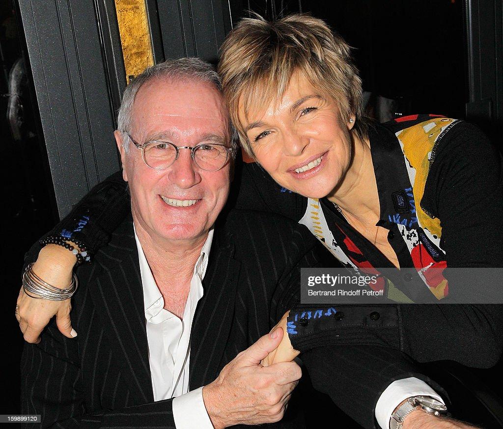 Veronique Jannot (R) and Bernard Lecoq attend 'La Petite Maison De Nicole' Inauguration Cocktail at Hotel Fouquet's Barriere on January 22, 2013 in Paris, France.