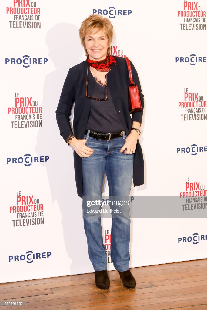 Veronique Jannot attends the 23rd Prix Du Producteur Francais De Television, at the Trianon, on March 13, 2017 in Paris, France.