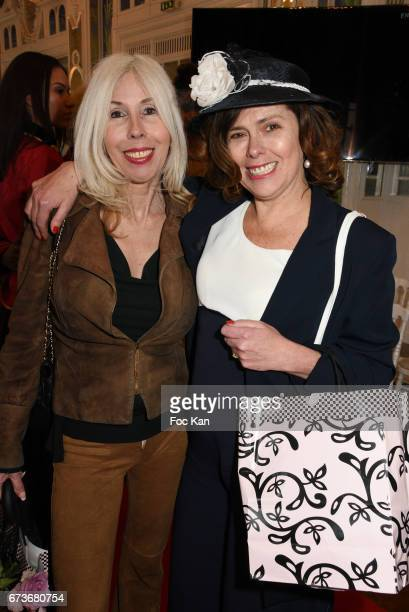 Veronique Koch and hatter Marie Mirabelle Desnos attend Fashion Night Couture 2017 Show at Salon des Miroirs on April 26 2017 in Paris France