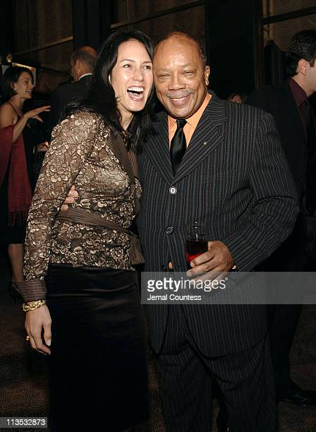 Veronique Lee and Quincy Jones during Quincy Jones Hosts Celebrity Poker Tournament to Benefit the Q Foundation and the Angkor Hospital for Children...