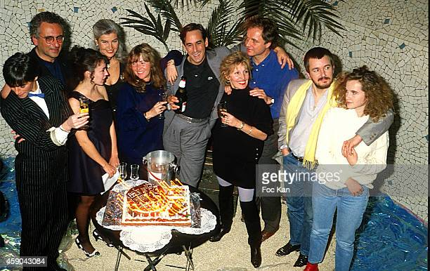 Veronique Mourousi Hubert Boukobza Beatrice Ardisson Marie Sezneck Thierry Ardisson Guillaume Durand Jean Jacques Beneix Isabelle Pasco and guests...