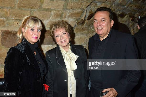 FRANCE OCTOBER 23 Veronique Nery Mercadier her mother Marthe Mercadier and Pierre Guillermo attend the 'Les 10 Ans de Marc Mitonne' Party Hosted by...