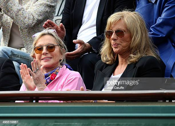 Veronique Sanson and Christine Caron aka Kiki Caron attend Day 10 of the French Open 2014 held at RolandGarros stadium on June 3 2014 in Paris France