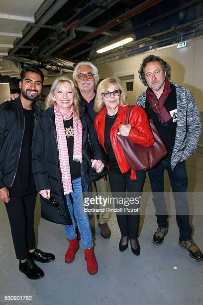 Veronique Sanson her companion Christian Meilland Victor Nicoletta and her husband Jean Christophe Molinier attend Michel Polnareff performs at...