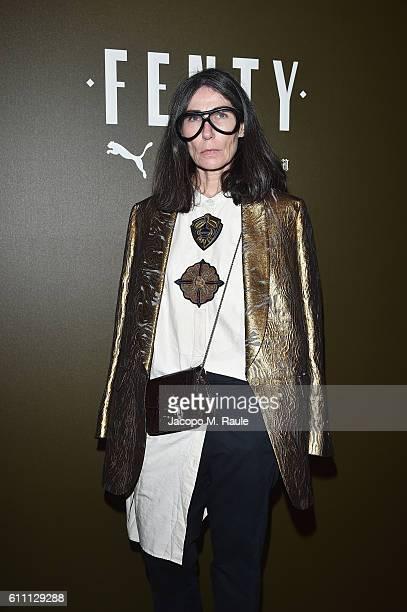 Veronique Tristram arrives at FENTY x PUMA by Rihanna at Hotel Salomon de Rothschild on September 28 2016 in Paris France