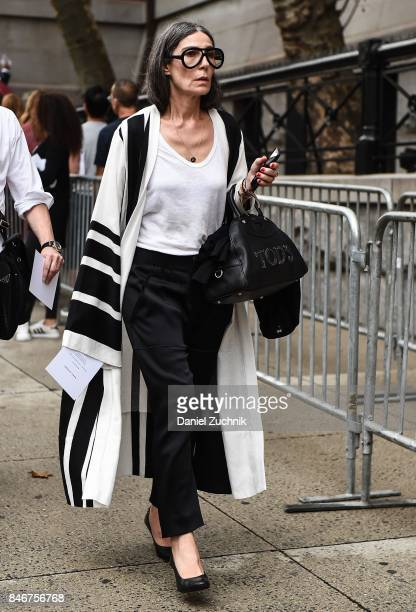 Veronique Tristram is seen outside the Marc Jacobs show during New York Fashion Week Women's S/S 2018 on September 13 2017 in New York City