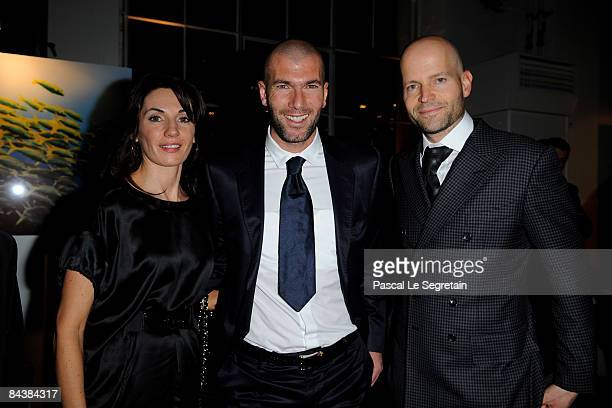 Veronique Zidane Zinedine Zidane and Marc Forster attend the IWC Schaffhausen Private Dinner Reception held at the Batiment des Forces Motrices...