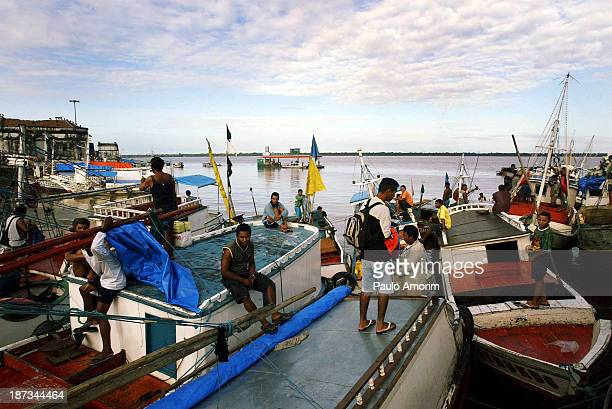 VeroPeso market on 7 February 2004 in Belem Brazil Belem is considered the entrance gate to the Amazon and for more than 300 years boats have...